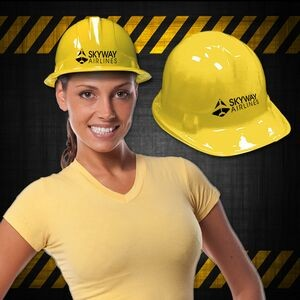 Yellow Novelty Plastic Construction Hat