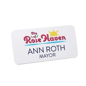 Digitally Printed Plastic Name Badge